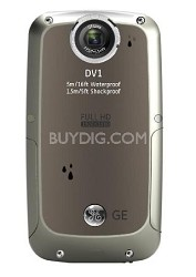Active DV-1 GG Waterproof/Shockproof 1080P Pocket Video Camera Graphite Gray