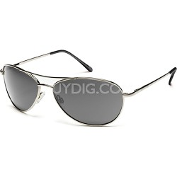Patrol Sunglasses Silver Frame/Gray Polarized Lens