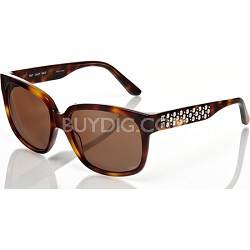 Tortoise-Brown with Silver-Studded Detail Sunglasses