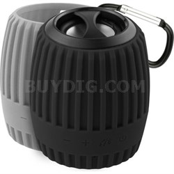 Durapod Rugged Black / Gray Rechargable Bluetooth Weatherproof Speaker