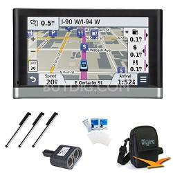 """nuvi 2557LMT 5"""" GPS with Lifetime Maps and Traffic Updates Essentials Bundle"""