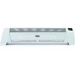 Low Profile Silent Room White Heater with Digital Display
