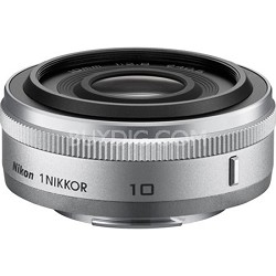 1 NIKKOR 10mm f/2.8 Lens Silver - Factory Refurbished
