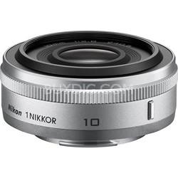 1 NIKKOR 10mm f/2.8 Lens Silver - Factory Refurbished