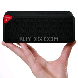 Bluetooth Rechargeable Speaker w/ Microphone - Black