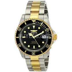 Men's Pro Diver 40mm Stainless Steel Gold Plated Black Dial Automatic 8927OB