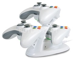 Vertical Induction Charger for 3 Xbox 360 Controllers