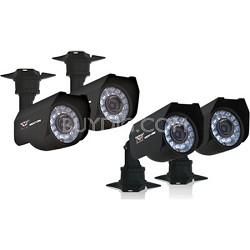 4-pk 400+ TVL Cameras w/ 60ft of Cable per Camera, 45ft Night Vision