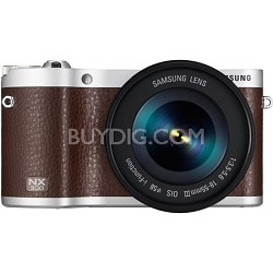 NX300 20.3MP CMOS Smart WiFi Compact DSLR Digital Camera with 18-55 Lens Brown