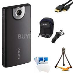 MHS-FS1 Bloggie Pocket HD 4GB Black Camera Camcorder w/ 5MP stills Bundle