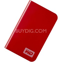 My Passport Essential Portable 250GB Real Red External Hard Drive (WDMER2500TN)
