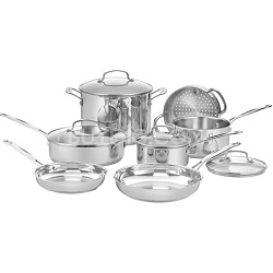 77-11G Chef's Classic Stainless 11-Piece Cookware Set
