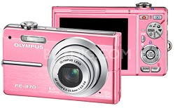 FE-370 8MP Digital Camera with Smile Shot (Pink) - REFURBISHED