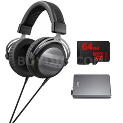 T5p Audiophile HiFi Portable & Home Studio Headphones 2nd Gen w/ FiiO E12 Amp