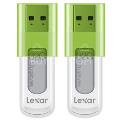 JumpDrive 32GB S50 Hi-Speed USB Flash Drive 2-Pack (Green) - Bulk Packaged