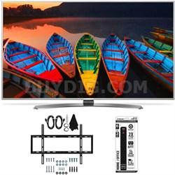 60UH7700 60-Inch Super UHD 4K Smart TV w/ webOS 3.0 Slim Flat Wall Mount Bundle