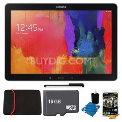 "Galaxy Note Pro 12.2"" Black 32GB Tablet, 16GB Card, Headphones, and Case Bundle"