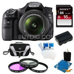 Alpha SLT-A58K Digital SLR Camera 16 GB Bundle