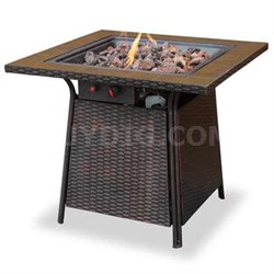 Gas Firebowl Tile Mantel