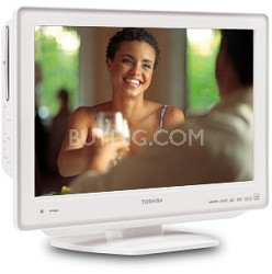 "22LV611U - 22"" High-definition LCD TV w/ built-in DVD Player (Hi-Gloss White)"