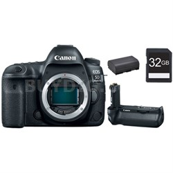 EOS 5D Mark IV 30.4MP Full Frame CMOS DSLR Camera (Body) 32GB Memory Card Bundle