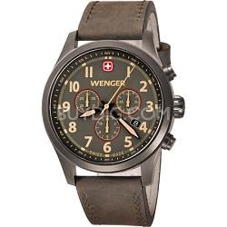 Men's Terragraph Chonograph Watch - Gunmeatal Dial/Brown Leather Strap