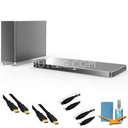 LAB540W 320W 4.1ch Sound Plate Sound System, Smart TV, Wireless Sub, Plus Bundle