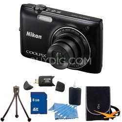 COOLPIX S4100 14MP Black Digital Camera 8GB Bundle