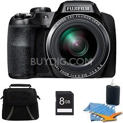 FinePix S9400W 16.2 MP HD 1080i Digital Camera Black 8GB Kit