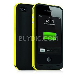 Juice Pack Plus Rechargeable Battery and Case for iPhone4 (Yellow)