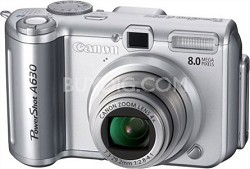 "Powershot A630 8MP Camera with 4x optical zoom lens and 2.5"" LCD"