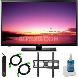 32LB520B - 32-inch HD 720p LED TV Plus Tilt Mount & Hook-Up Bundle