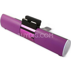 Concept Purple Bluetooth Speaker Bar with Dock For Smartphone or Tablet