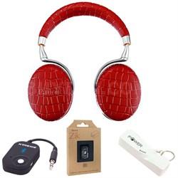 Zik 3 Wireless Noise Cancelling Bluetooth Headphones (Red Croc) Mobile Bundle