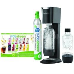 GENESIS Home Soda Maker Starter Kit - Silver/Black - OPEN BOX