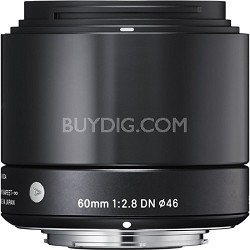 60mm F2.8 EX DN ART Lens for Micro Four Thirds (Black) - OPEN BOX