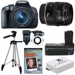 EOS Rebel T5i SLR Digital Camera Macro Photographer Deluxe Bundle