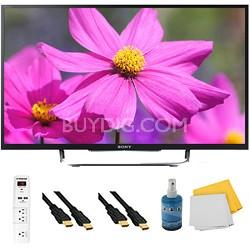 "50"" LED HDTV 3D Built-In WiFi Motionflow XR 480 Plus Hook-Up Bundle - KDL50W800B"