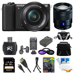 a5100 Mirrorless Camera w/ 16-50mm and 16-70mm Lens Black Bundle