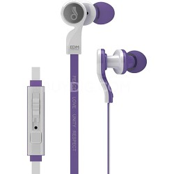 EDM Universe D1P In-Ear Headphones with Headset Functionality (Respect/Purple)