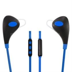 Bluetooth 4.1 Headphones w/ Camera Button,Mic, Volume Control Blue - OPEN BOX