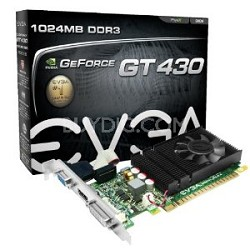 GeForce GT 430 1024 MB DDR3 PCI Express 2.0 DVI/HDMI/VGA Graphics Card, 01G-P3-1