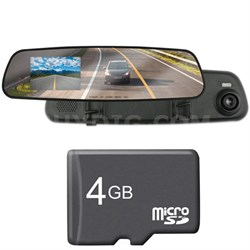 2.4 inch LCD Dash Cam w/ 720p Video/Audio Recorder + 4GB Card Bundle