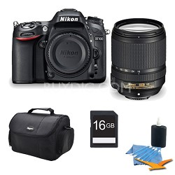 D7100 DX-format Black Digital SLR Camera and 18-140mm VR Lens 16GB Bundle