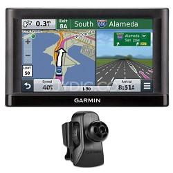 "nuvi 55LM GPS Navigation System w/ Lifetime Maps 5"" Display Vent Mount Bundle"