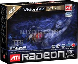 RADEON X1950PRO AGP8X 256MB 2PORT DUAL DVI-I & TV/HDTV 450W REQ