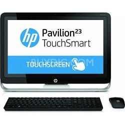 "Pavilion TouchSmart 23"" HD 23-h050 All-In-One PC - AMD Quad-Core A6-5200 Proc."