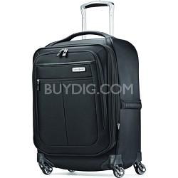 """MIGHTlight 21"""" Ultra-lightweight Spinner Luggage  - Black"""