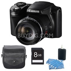 PowerShot SX510 HS 12.1 MP Digital Camera 8GB Bundle