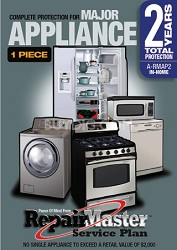 Repair Master Two (2) Year  Warranty for Appliances